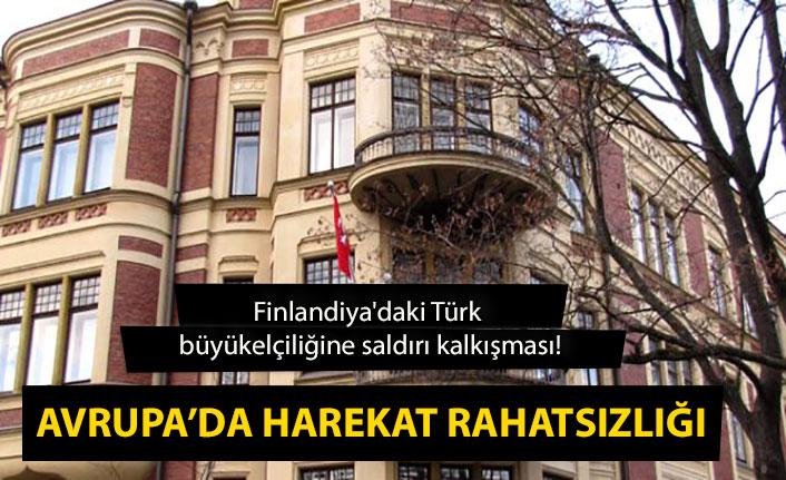 Avrupa'da harekat rahatsızlığı! Finlandiya'daki Türk büyükelçiliğine saldırı düzenlendi