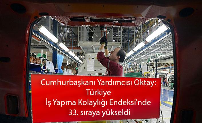 Cumhurbaşkanı Yardımcısı Oktay: Türkiye İş Yapma Kolaylığı Endeksi'nde 33. sıraya yükseldi