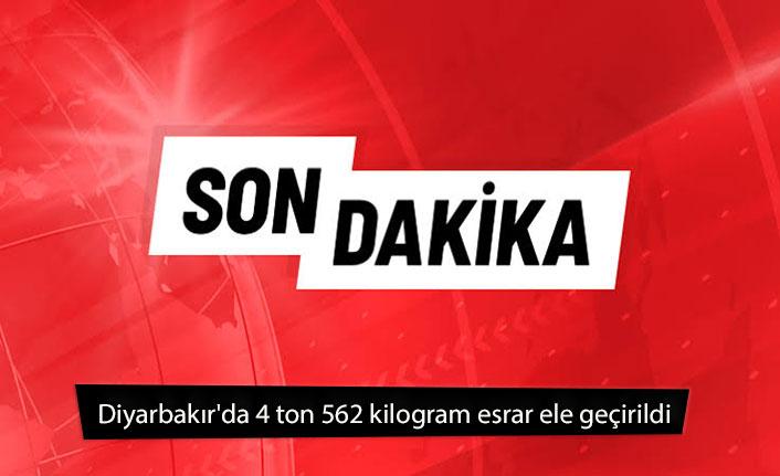 Diyarbakır'da 4 ton 562 kilogram esrar ele geçirildi