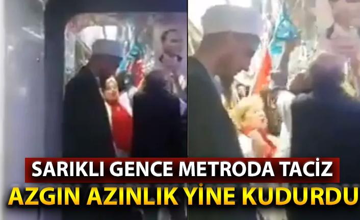 Metroda 10. yıl marşı ile skandal taciz!