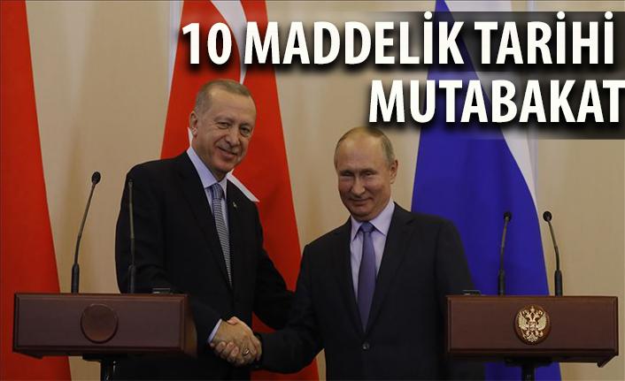 Rusya ile Türkiye'nin 10 maddelik Suriye mutabakatı