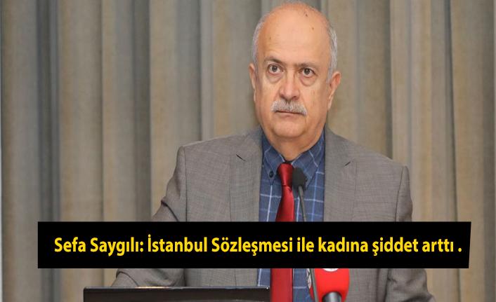 Sefa Saygılı: İstanbul Sözleşmesi ile kadına şiddet arttı