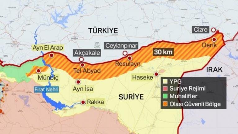 Suriye'ye operasyonda ilk hedef 120 km'lik hat