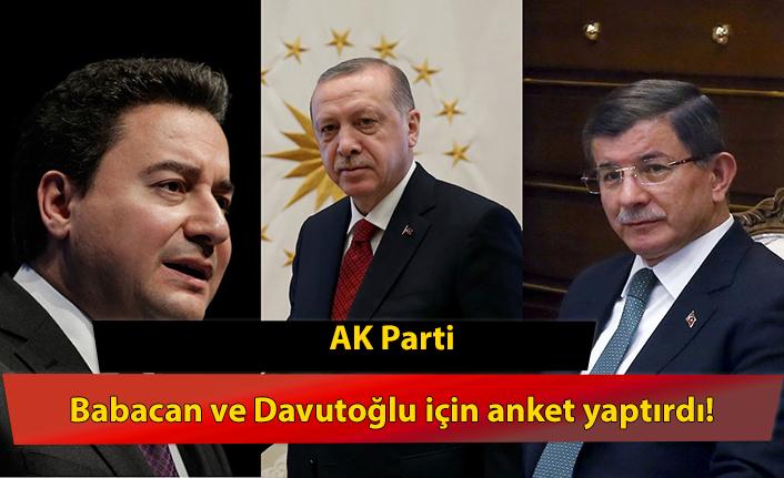 AK Parti, Babacan ve Davutoğlu için anket yaptırdı! İki isim toplamda yüzde 1 oy alıyor