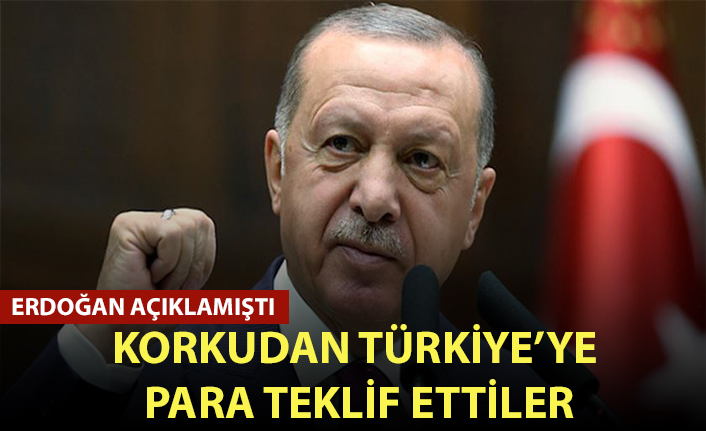 Başkan Erdoğan açıklamıştı! Korkudan Türkiye'ye para teklif ettiler