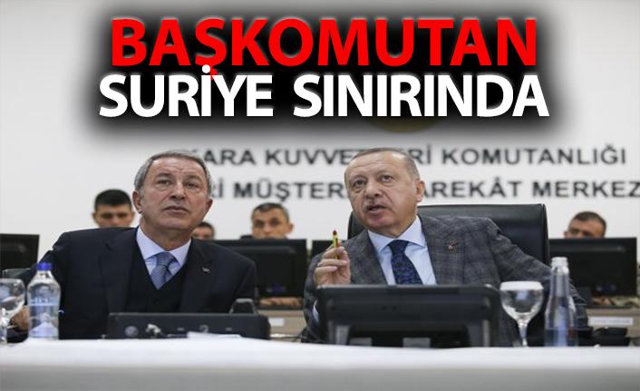 Başkan Recep Tayyip Erdoğan Suriye sınırında
