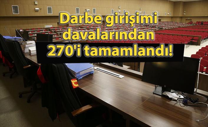 Darbe girişimi davalarından 270'i tamamlandı