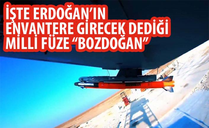 İşte Erdoğan'ın envantere girecek dediği milli füzemiz!