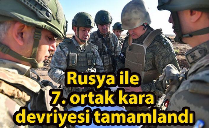 Rusya ile 7. ortak kara devriyesi tamamlandı