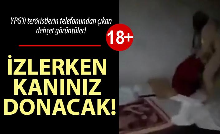 YPG'li teröristin cep telefonundan çıkan dehşet görüntüleri