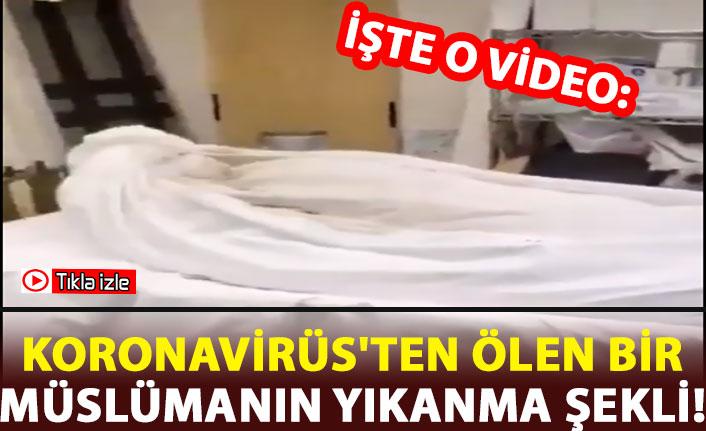 Koronavirüs'ten dolayı ölen bir müslümanın yıkanma şekli!