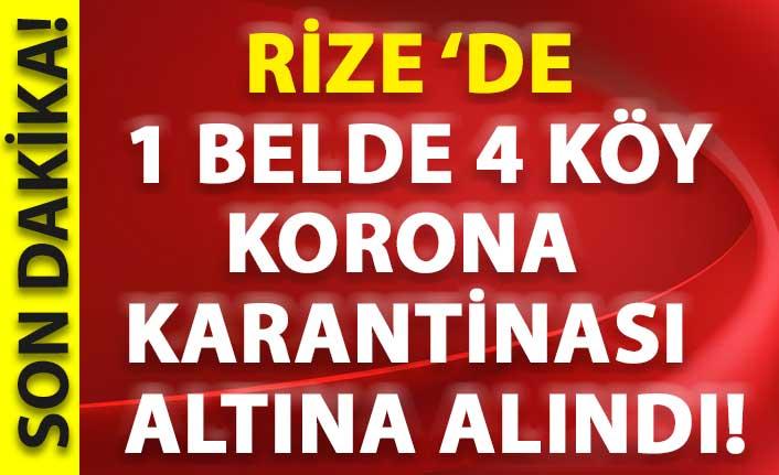 Rize'de Kendirli beldesi ve 4 köy karantina altına alındı