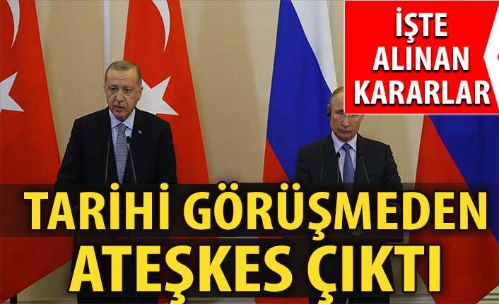 Tarihi zirve sonrası Erdoğan ve Putin tek tek açıkladı! İdlib'de anlaşma sağlandı