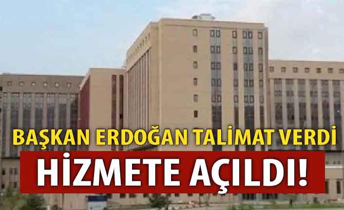 Başkan Erdoğan talimat verdi! Hizmete açıldı