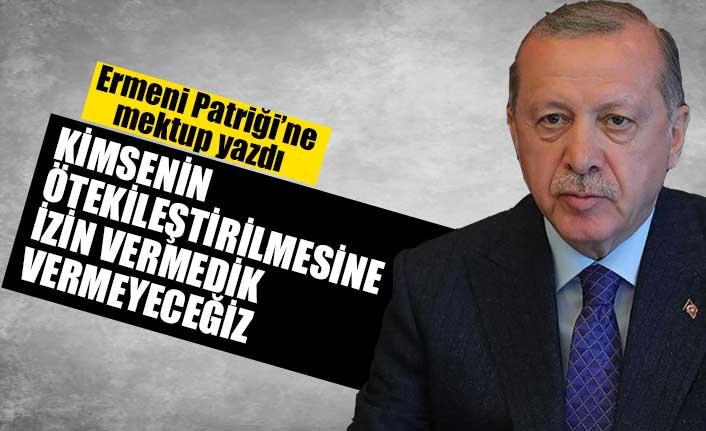 Erdoğan'dan, Türkiye Ermenileri Patriği Maşalyan'a mektup