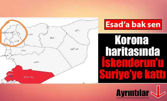 Esad'ın tepki çeken koronavirüs haritası