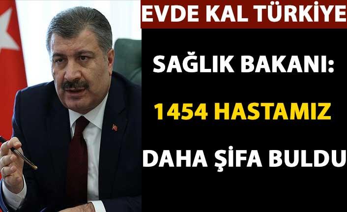 Sağlık Bakanı Koca: 1454 hastamız daha şifa buldu