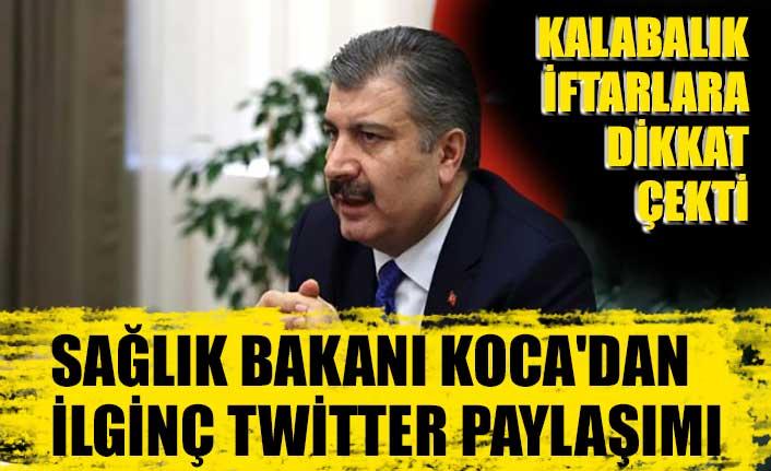 Sağlık Bakanı Koca'dan ilginç twitter paylaşımı