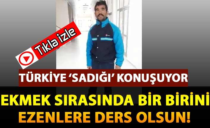 Türkiye bu video'yu konuşuyor! Cebindeki son parayı bağış kampanyasına yatırdı!