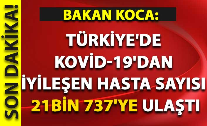Türkiye'de Kovid-19'dan iyileşen hasta sayısı 21bin 737'ye ulaştı