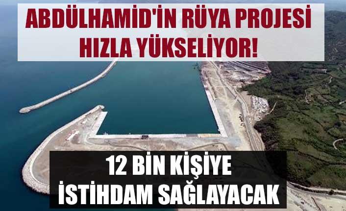 Abdülhamid'in rüya projesi hızla yükseliyor! 12 bin kişiye istihdam sağlayacak