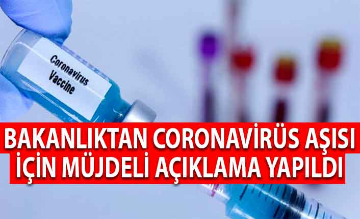 Bakanlıktan Coronavirüs Aşısı İçin Müjdeli Açıklama Yapıldı