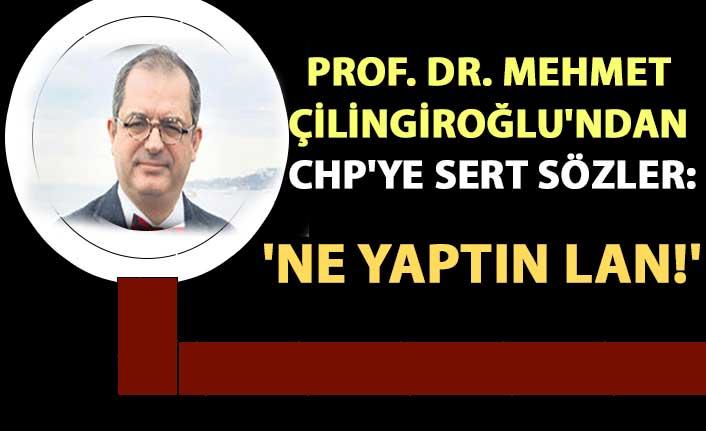 Prof. Dr. Mehmet Çilingiroğlu'ndan CHP'ye sert sözler: 'Ne yaptın lan!'