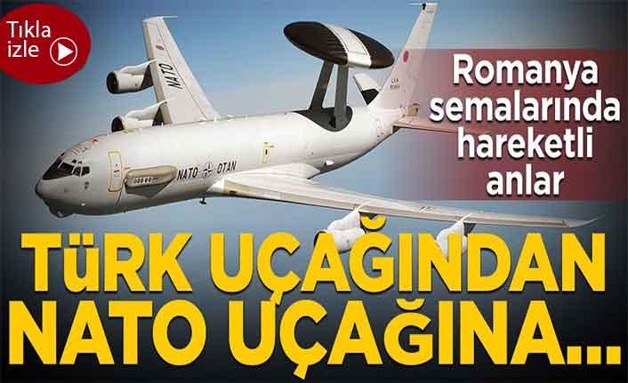 Romanya semalarında Türk uçağından NATO uçağına yakıt ikmali
