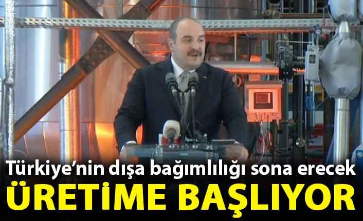 Bakan Mustafa Varank duyurdu: Türkiye'de üretime başlıyor