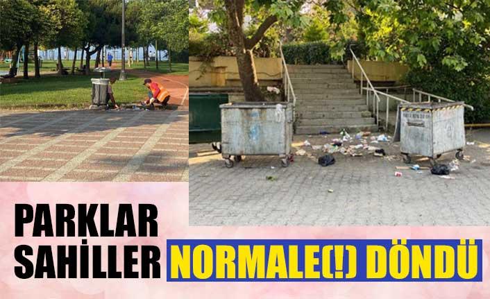 Caddebostan sahilindeki çöp manzaraları tepki çekti