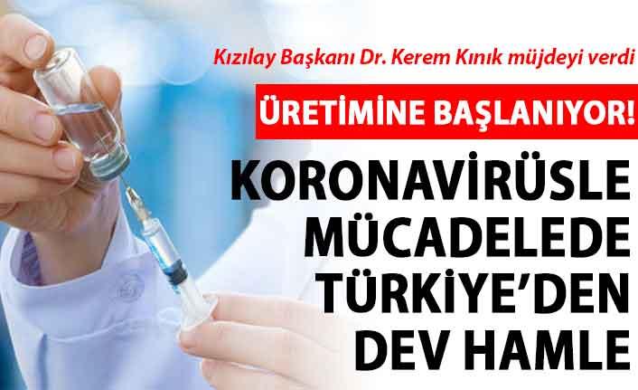 Kızılay Başkanı müjdeyi verdi: Pasif aşı üretimine başlıyoruz