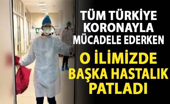 Tüm Türkiye koronayla mücadele ederken o ilimizde başka hastalık patladı