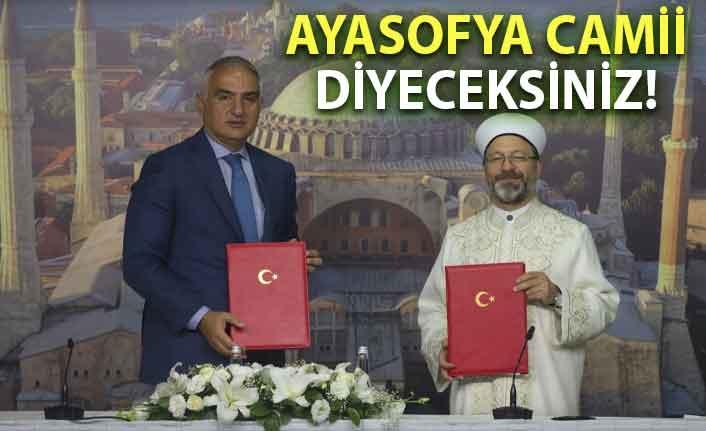 Ayasofya için protokol imzalandı