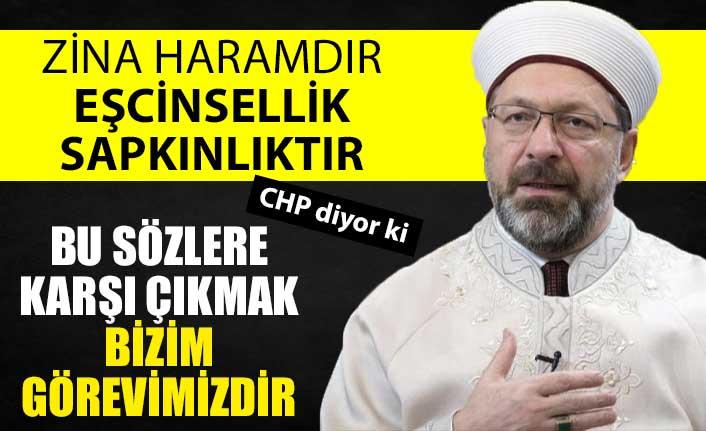 CHP, Ali Erbaş'ın LGBT sözlerine karşı çıkıyor
