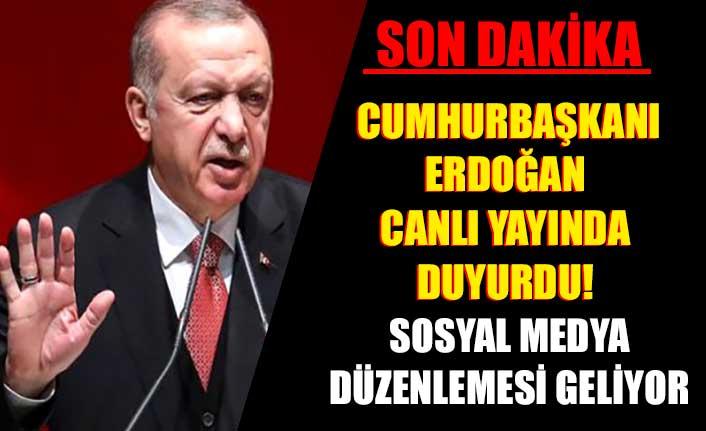 Cumhurbaşkanı Erdoğan canlı yayında duyurdu! Sosyal medya düzenlemesi geliyor