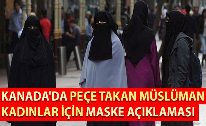 Kanada'da peçe takan Müslüman kadınlar için maske açıklaması