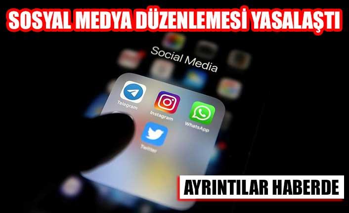 Sosyal medya düzenlemesi yasalaştı