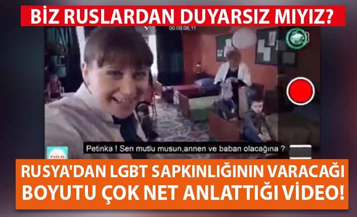 Rusya'dan eşcinsel sapkınlığına karşı video!