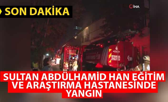 Üsküdar'daki Sultan Abdülhamid Han Eğitim ve Araştırma Hastanesinde yangın