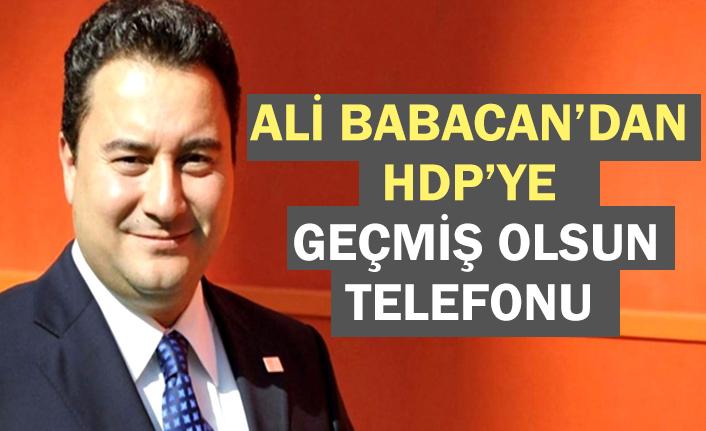 Ali Babacan'dan HDP'ye telefon