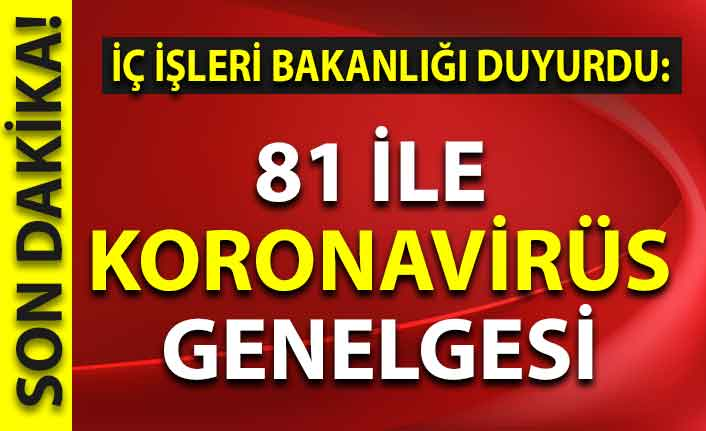 Başkan Erdoğan'ın talimatıyla 81 ile koronavirüs genelgesi!