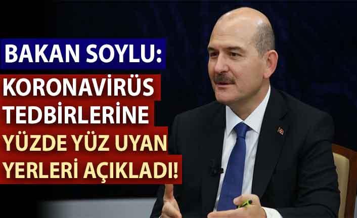 İçişleri Bakanı Soylu: Koronavirüs tedbirlerine yüzde yüz uyan tek yer camiler oldu