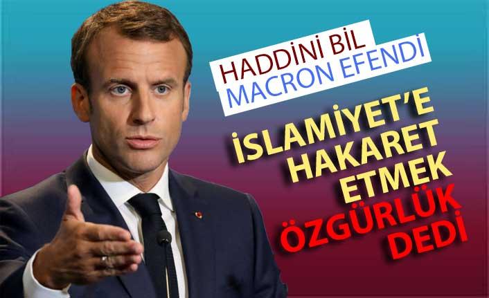 Macron'a göre dine hakaret özgürlük
