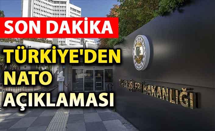 Türkiye'den NATO açıklaması