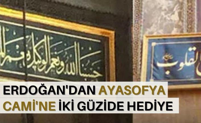 Erdoğan'dan Ayasofya Cami'ne iki güzide hediye