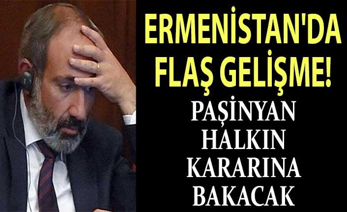 Ermenistan'da flaş gelişme! Paşinyan istifaya hazır