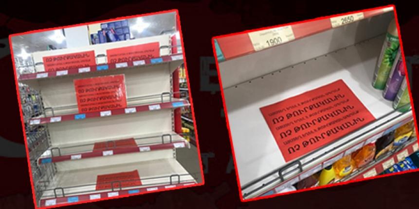 Ermenistan, Türk ürünlerine ambargo uyguluyor