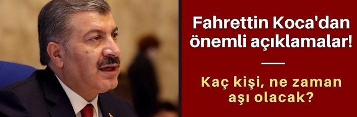 Fahrettin Koca'dan önemli açıklamalar!