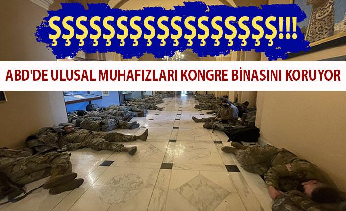 ABD'de Ulusal Muhafızlar, Kongre binasında yatıyor
