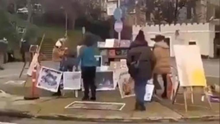 Boğaziçi Üniversitesi önünde Kabe fotoğrafının yere serilmesine ilişkin soruşturmada 2 kişi tutuklandı